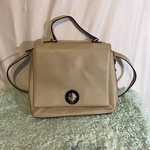 Kate Spade Beige Genuine Leather Crossbody Bag